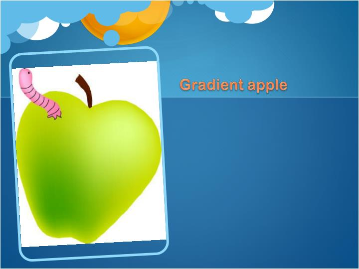 Gradient apple