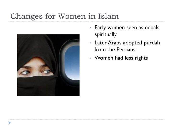 Changes for Women in Islam