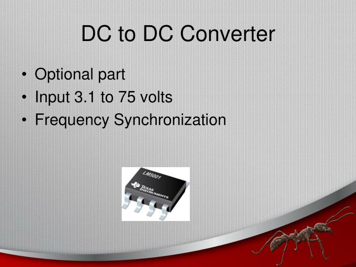 DC to DC Converter