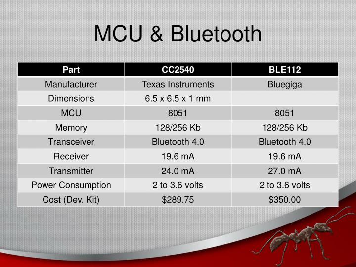 MCU & Bluetooth
