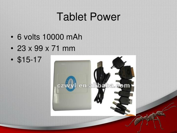 Tablet Power