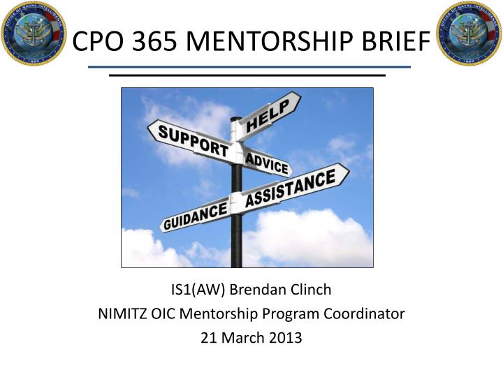 Cpo 365 mentorship brief