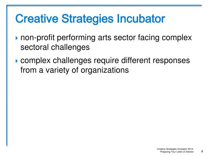 Creative Strategies Incubator
