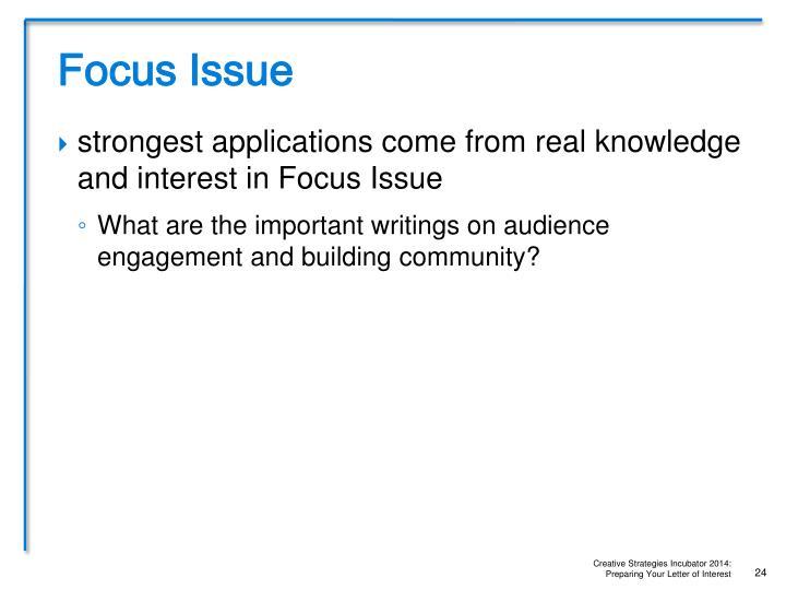 Focus Issue