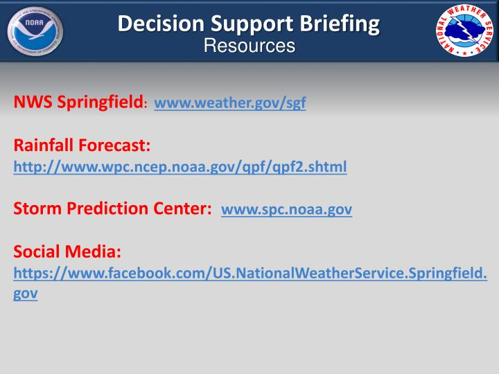 Decision Support Briefing
