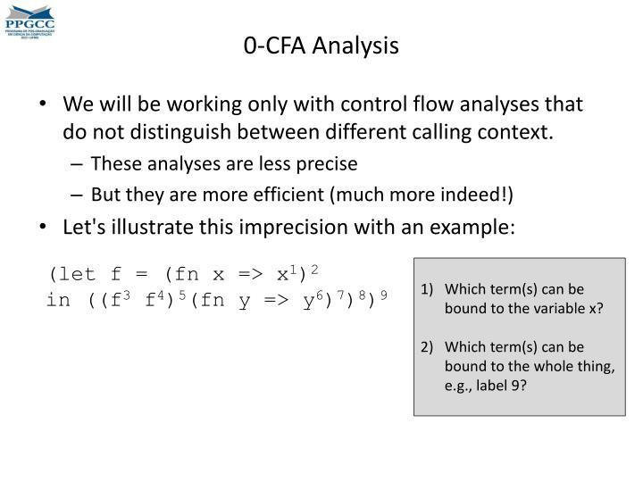 0-CFA Analysis