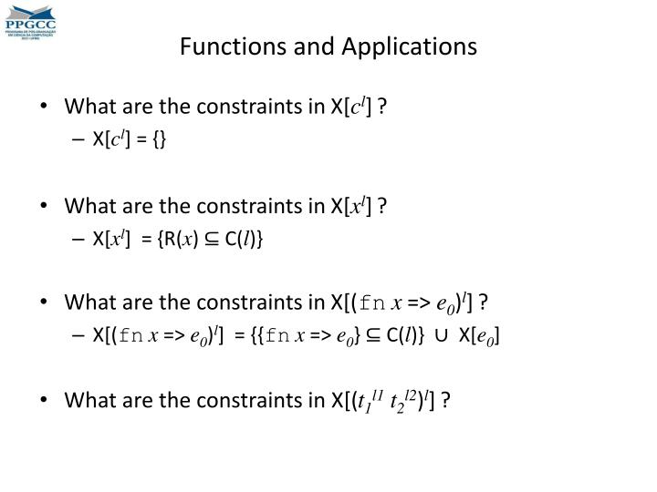 Functions and Applications