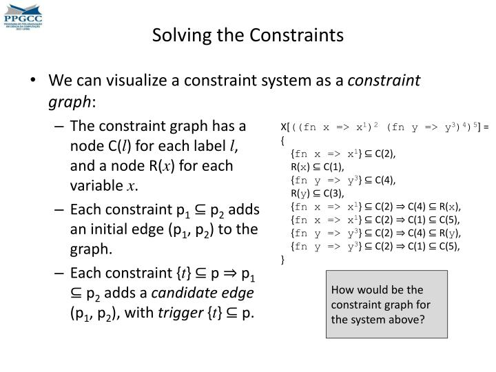 Solving the Constraints