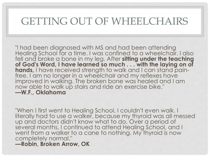 Getting out of wheelchairs