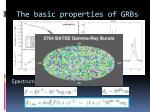 the basic properties of grbs