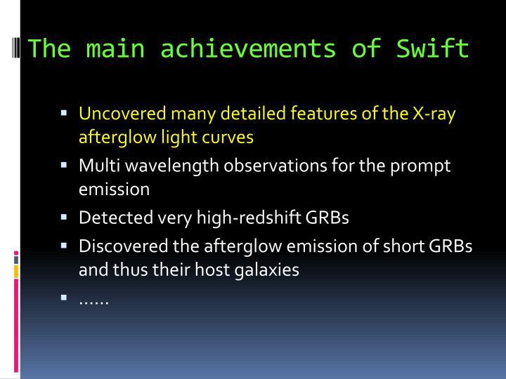 The main achievements of Swift