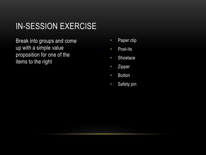 In-session exercise