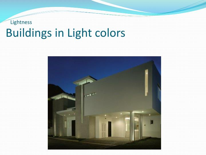 Buildings in Light colors