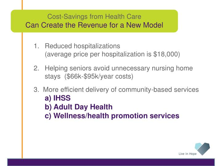 Cost-Savings from Health Care