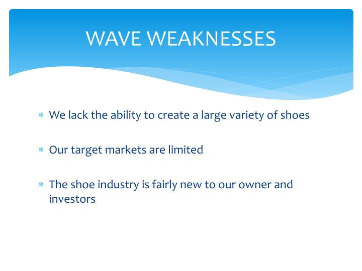 WAVE WEAKNESSES