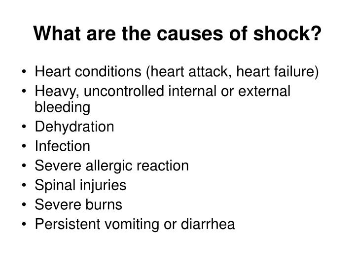 What are the causes of shock?