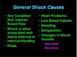general shock causes