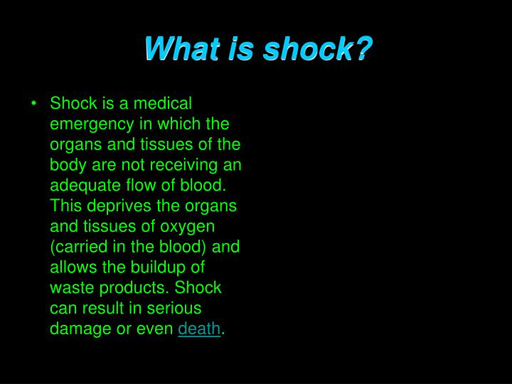 What is shock?
