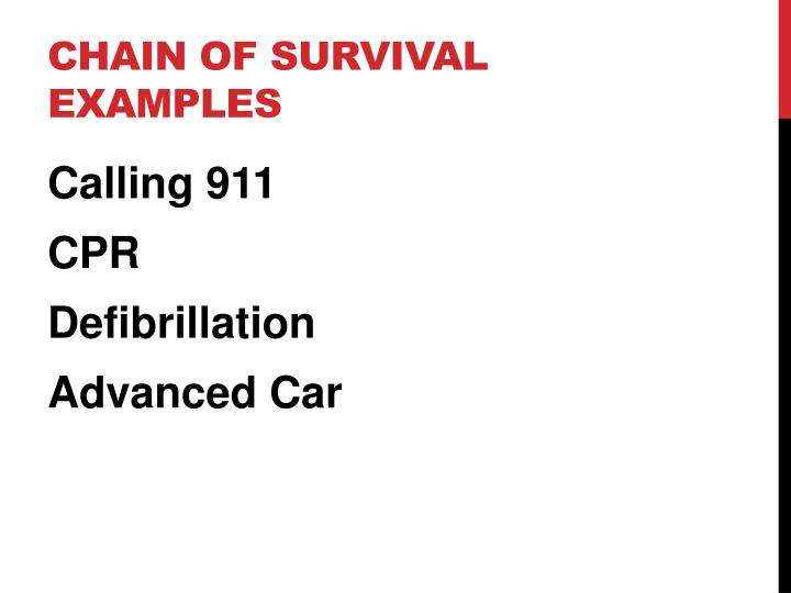 Chain of survival examples