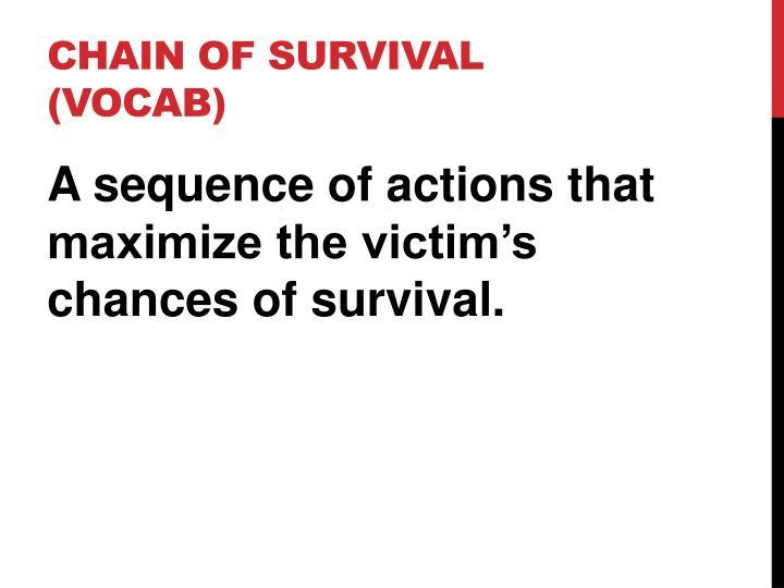 Chain of Survival (vocab)