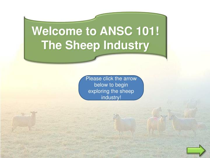 Welcome to ANSC 101!