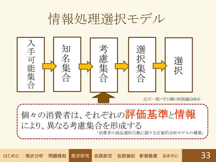 情報処理選択モデル
