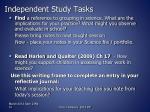 independent study tasks
