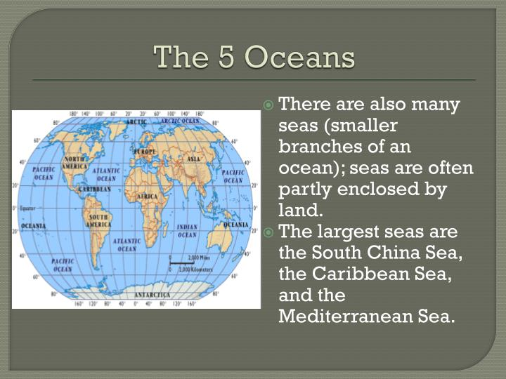 PPT - The 5 Oceans PowerPoint Presentation - ID:2643708