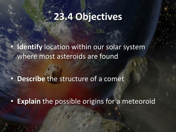 23.4 Objectives