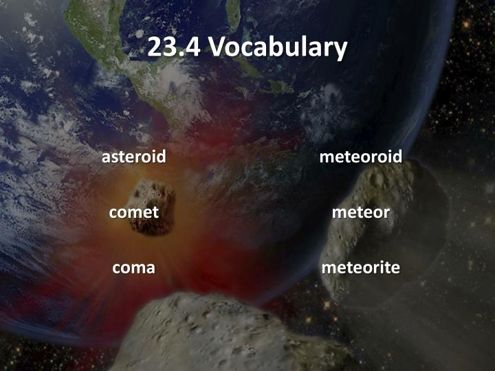 23.4 Vocabulary