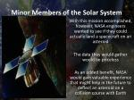 minor members of the solar system2