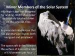 minor members of the solar system3