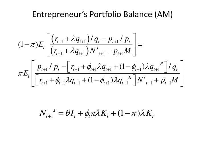 Entrepreneur's Portfolio Balance (AM)