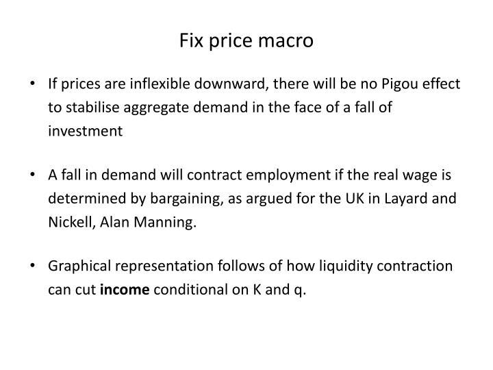 Fix price macro