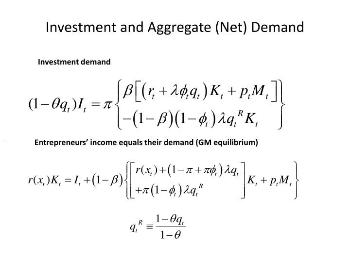 Investment and Aggregate (Net) Demand