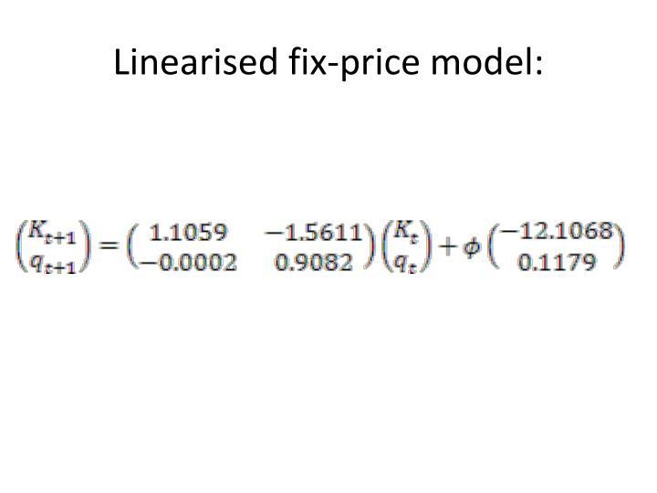 Linearised fix-price model: