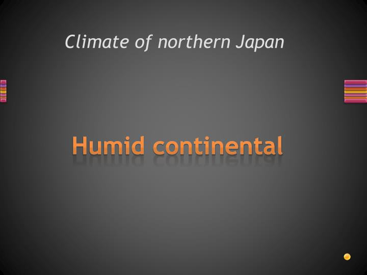 Climate of northern Japan