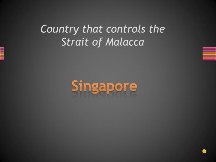 Country that controls the