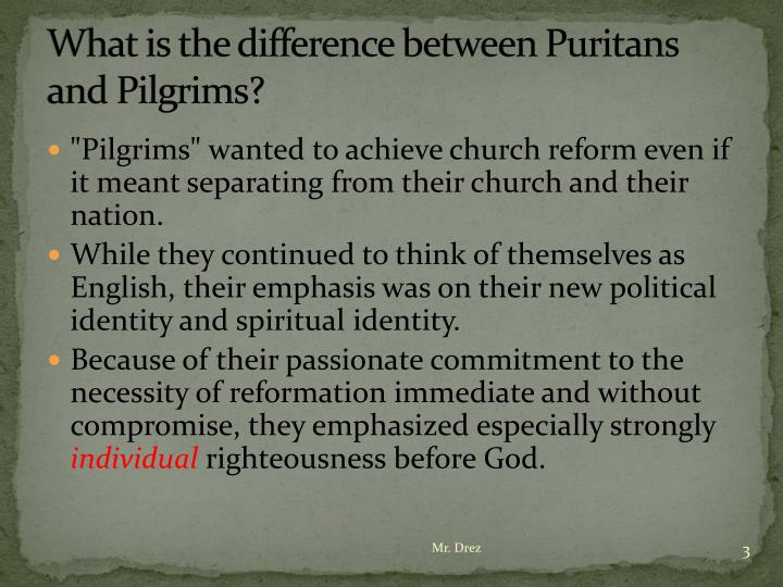 What is the difference between Puritans and Pilgrims?