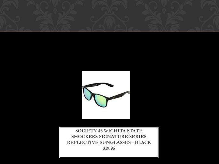 Society 43 Wichita State Shockers Signature Series Reflective Sunglasses - Black