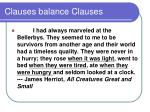 clauses balance clauses