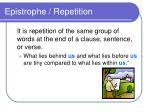 epistrophe repetition