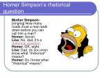 homer simpson s rhetorical question