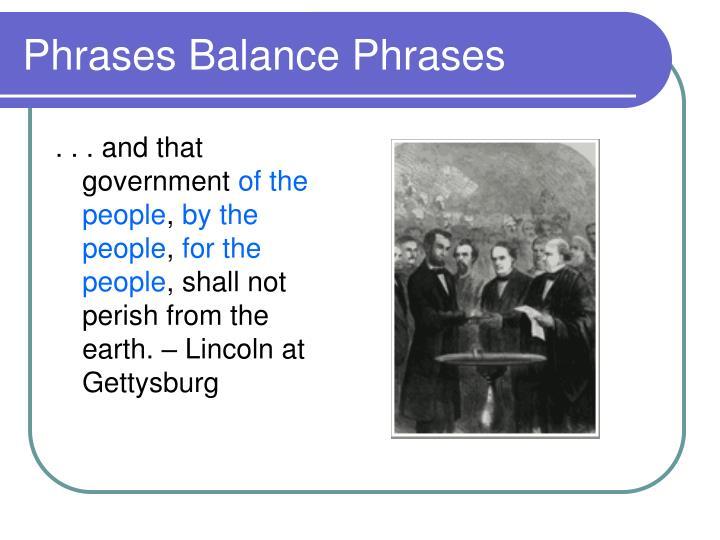 Phrases Balance Phrases
