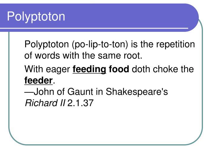 Polyptoton