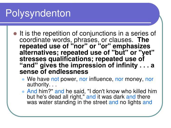 Polysyndenton