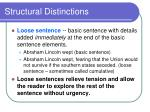 structural distinctions