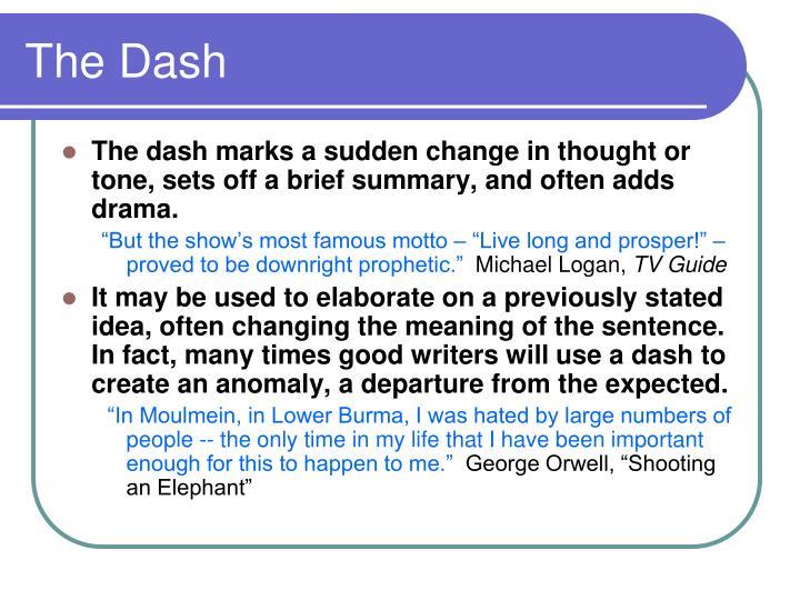 The Dash