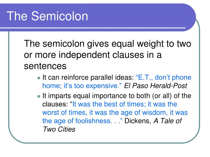 The Semicolon