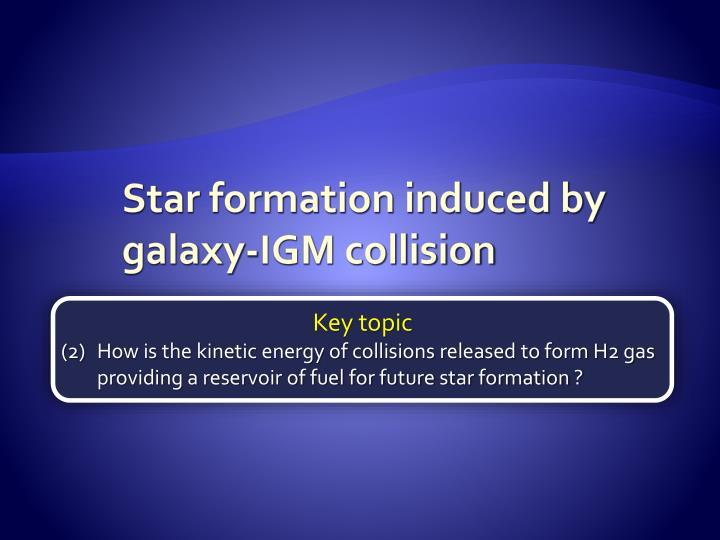 Star formation induced by  galaxy-IGM collision